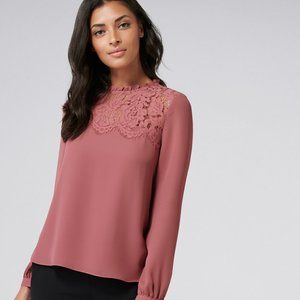 Forever New Daina Lace Yoke Essential Blouse